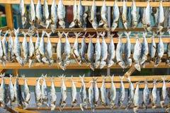 Рыбный базар с высушенный посоленный в Стамбуле, Турции стоковая фотография rf