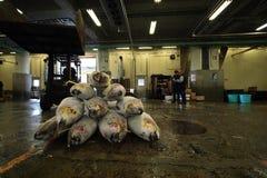 Рыбный базар токио Tsukiji Стоковая Фотография