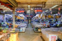 Рыбный базар Jagalchi, Пусан стоковые фотографии rf