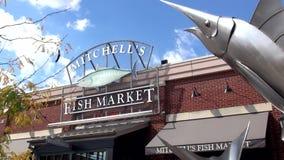 Рыбный базар Mitchells на пристани Ньюпорта - НЬЮПОРТЕ, Кентукки Соединенных Штатах видеоматериал