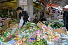 Рыбный базар Tsukiji, токио, Япония Стоковое фото RF