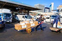 Рыбный базар Tsukiji Стоковая Фотография RF