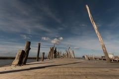 Рыбный порт Carrasqueira старый Стоковые Фото