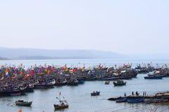 Рыбный порт Harnai, Dapoli, махарастра, Индия Стоковая Фотография RF