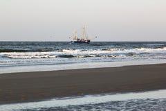 Рыбозавод около Bureblinkert на пляже Ameland, Голландии Стоковое фото RF