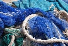 рыболовная сеть голубого коричневого цвета Стоковая Фотография RF
