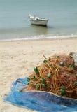 рыболовная сеть пляжа Стоковое Фото