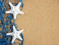Рыболовная сеть с морскими звёздами стоковые фото