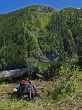 рыболовная удочка backpack Стоковые Фото