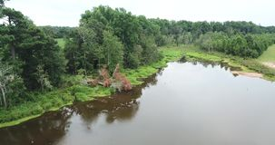 Рыболовное Озеро На Ферме сток-видео