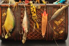 рыболовные принадлежности в прошлом Стоковые Изображения RF