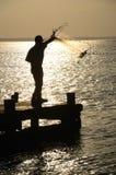 рыболовство бросания Стоковое Изображение RF