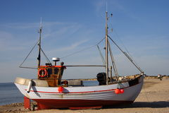 рыболовство Дании шлюпки Стоковое Фото