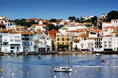рыболовство Испания catalunya cadaques шлюпки Стоковая Фотография