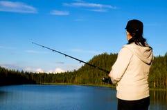 рыболовство Лапландия стоковые изображения rf