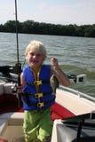 рыболовство мальчика Стоковое Изображение