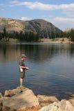 Рыболовство мухы рыболова   Стоковое Фото