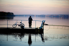 рыболовство осени Стоковое Фото