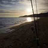 рыболовство пляжа Стоковое Изображение RF