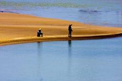 рыболовство пляжа Стоковое Изображение
