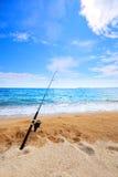 рыболовство пляжа Стоковые Изображения