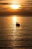 рыболовство рассвета стоковое фото