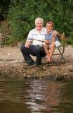 рыболовство семьи Стоковые Изображения