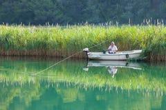 Рыболовство человека Стоковая Фотография RF