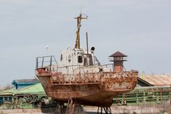 рыболовство шлюпки старое стоковые изображения
