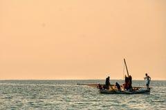 Рыболовы в karkennah стоковая фотография