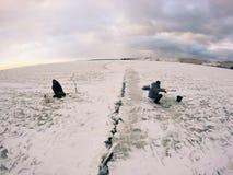 Рыболовы на льде Стоковое фото RF
