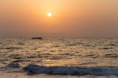 Рыболовы на море Стоковая Фотография