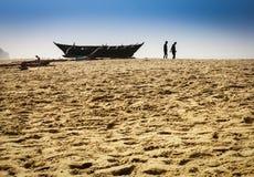 Рыболовы на работе в Индии Стоковые Фотографии RF