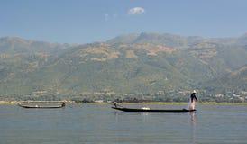 Рыболовы озера Inle myanmar Стоковое фото RF