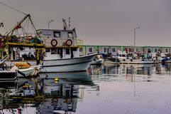 Рыболовы приютят старую фотографию - Турцию Стоковая Фотография RF