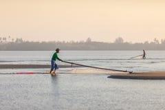 рыболов пляжа Стоковое Изображение
