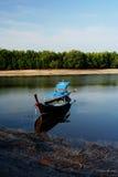 рыболов шлюпки Стоковая Фотография