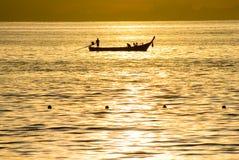 рыболов шлюпки Стоковое Изображение RF