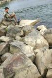 рыболов Стоковое Изображение