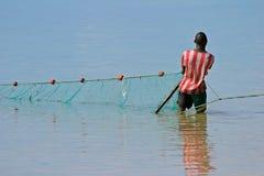 рыболов mozambican Мозамбик Африки южный Стоковое Изображение