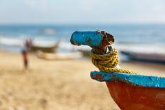рыболов s шлюпок пляжа Стоковые Изображения RF