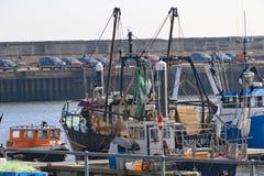 Рыбопромысловый флот на Lowestoft стоковое фото