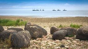 Рыбопромысловый флот Стоковая Фотография
