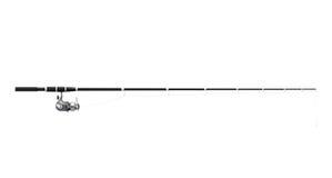 Рыболовная удочка закручивая на белую предпосылку перевод 3d Стоковые Изображения