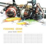 Рыболовные принадлежности  Стоковое Изображение RF