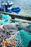 Рыболовные сети засыхания в порте стоковое изображение