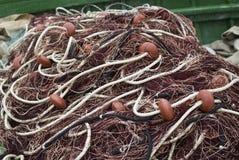 Рыболовные сети и поплавки Стоковое фото RF