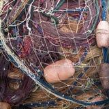 Рыболовные сети и поплавки Стоковое Изображение