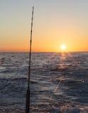 рыболовство рассвета Стоковое Изображение
