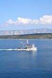 рыболовство свободного полета шлюпки ближайше Стоковые Изображения RF